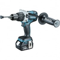 Perceuse visseuse à percussion MAKITA 18 V Li-Ion 5 Ah Ø 13 mm