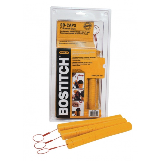 Rondelles en plastique couleur orange Bostitch