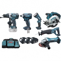 Coffret 6 machines MAKITA