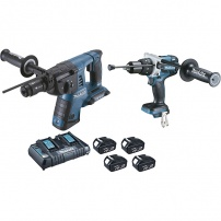 Ensemble de 2 machines 18 V Li-Ion 4 Ah (DGA504 + DHP480) MAKITA