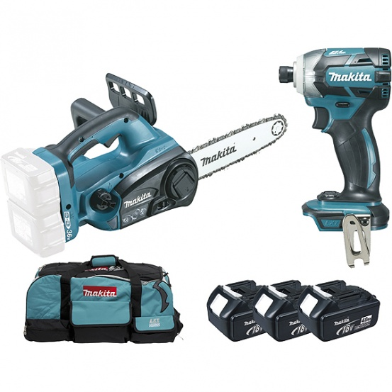 Ensemble de 2 machines 18 V Li-Ion 4 Ah (DUC252 + DTD148) MAKITA
