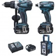 Ensemble de 3 machines 18 V Li-Ion 4 Ah (DTD146 + DDF458 + DMR102) MAKITA