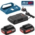 Pack induction BOSCH 2 batterie 18V 2Ah + Charg GAL1830W