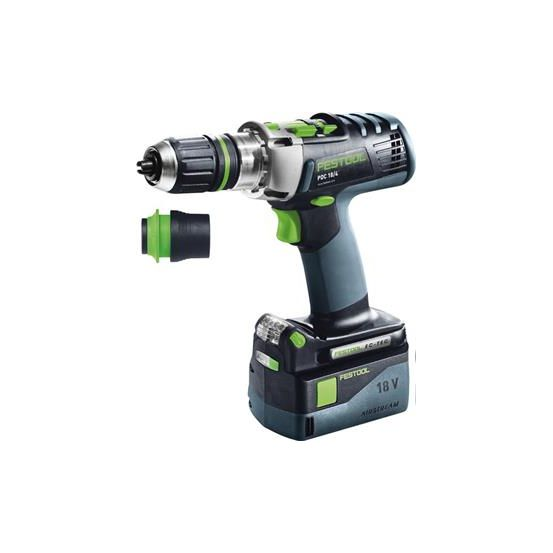 Perceuse-visseuse PDC 18/4 Li 5,2 Plus QUADRIVE à percussion sans fil FESTOOL
