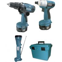 Ensemble de 3 machines 14,4V Ni-Mh 3Ah (6935FD+6339D+Ml141) MAKITA