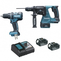 Ensemble de 2 machines 18 V Li-Ion 5 Ah DLX2052TJ MAKITA