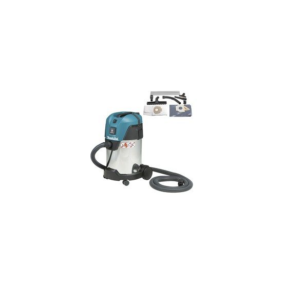 Aspirateur makita 30 l 1000 w 210 mbar vc3011l for Aspirateur independant