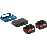 Pack 2 batteries induction 18V 4Ah + chargeur BOSCH GAL 1830W BOSCH