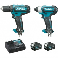 Ensemble de 2 machines 10,8 V Li-Ion 4 Ah CXT (DF331D + TD110D) MAKITA