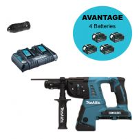 Perfo-burineur SDS-Plus 36V (2 x 18 V Li-Ion) 5Ah 26mm (4 batteries) DHR264PT4J MAKITA