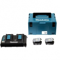 Pack 2 batteries 18V 5Ah + chargeur 197629-2 MAKITA