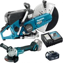 Ensemble de 2 machines Decoupeuse thermique EK7651H + Meuleuse 125mm DGA504 MAKITA DK0040M MAKITA