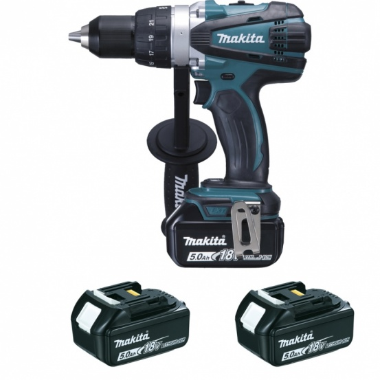 Perceuse visseuse 18v li ion 5ah 13 mm ddf458rt3j makita - Visseuse makita 18v ...