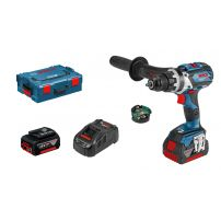Perceuse-visseuse GSR 18V-60 C, 2batt 5,0 AH batteries, L-BOXX, Connectée BOSCH