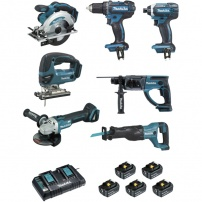 Ensemble de 7 machines DLX7013PT1 MAKITA