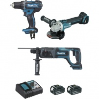 Ensemble de 3 machines 18 V Li-Ion 4 Ah DLX3078MJ MAKITA