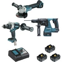 Ensemble de 3 machines (DDF481 + DGA506 + DHR243) MAKITA