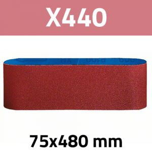 Bandes abrasives 75 x 480 versions X440 BOSCH